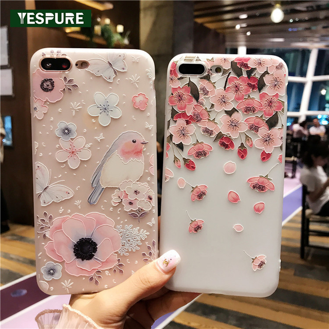 detailed look 58c1b a4cfd US $7.9 |YESPURE Fancy Girls Telephone Cases Covers for Iphone 6 6s Case  Ultra Thin Silicone Handphone Cases Antishock Phone Protector-in Fitted  Cases ...