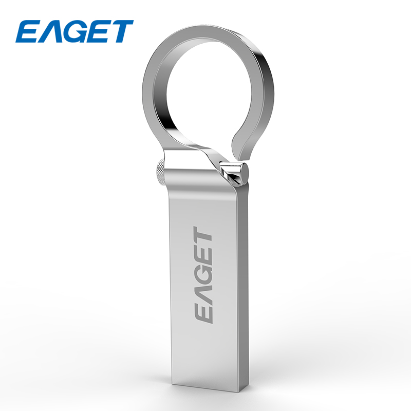 Original EAGET Waterproof Metal USB Flash Drive 16GB USB3.0 High Speed Ring Pendrive 32GB Memory Stick Encryption Flash Disk U96