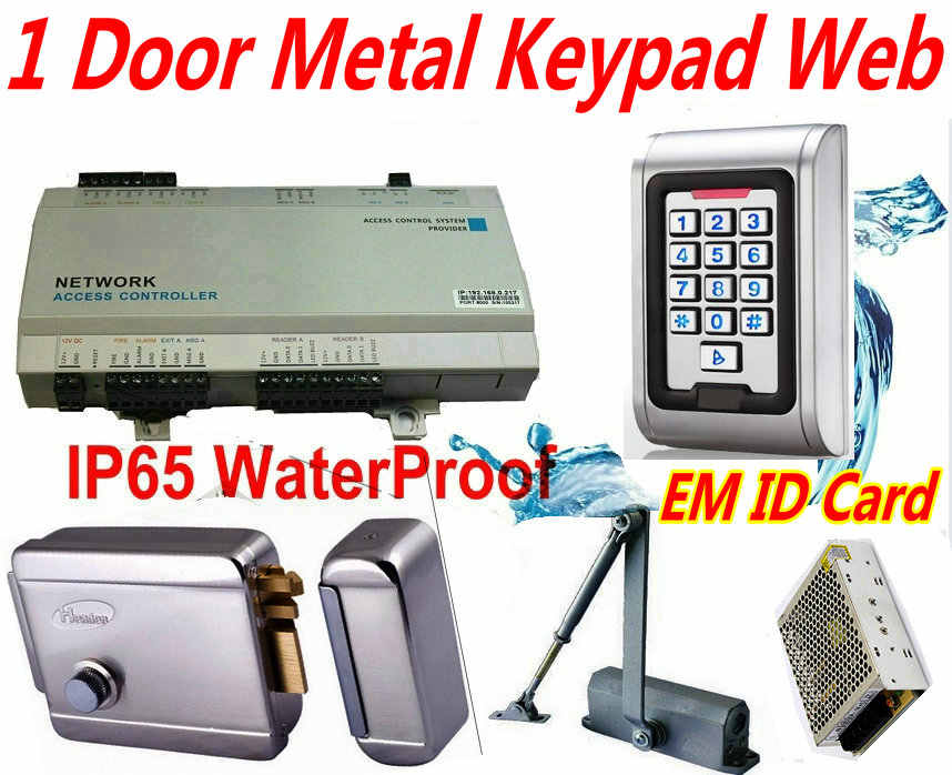 1 внешняя водонепроницаемая клавиатура Pin код + металлический CaseEM ID Card reader Электро