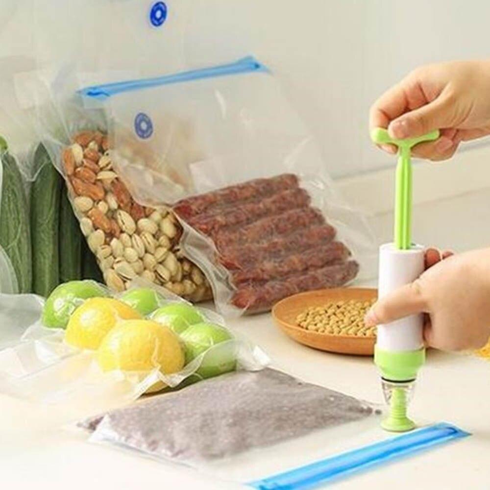 5 pièces poignée Sous Vide scellant Vacuumzak Handpomp poche Verpakkings Machine Voedsel Sous Vide Met Sous Vide Ziplock Tassen sacs