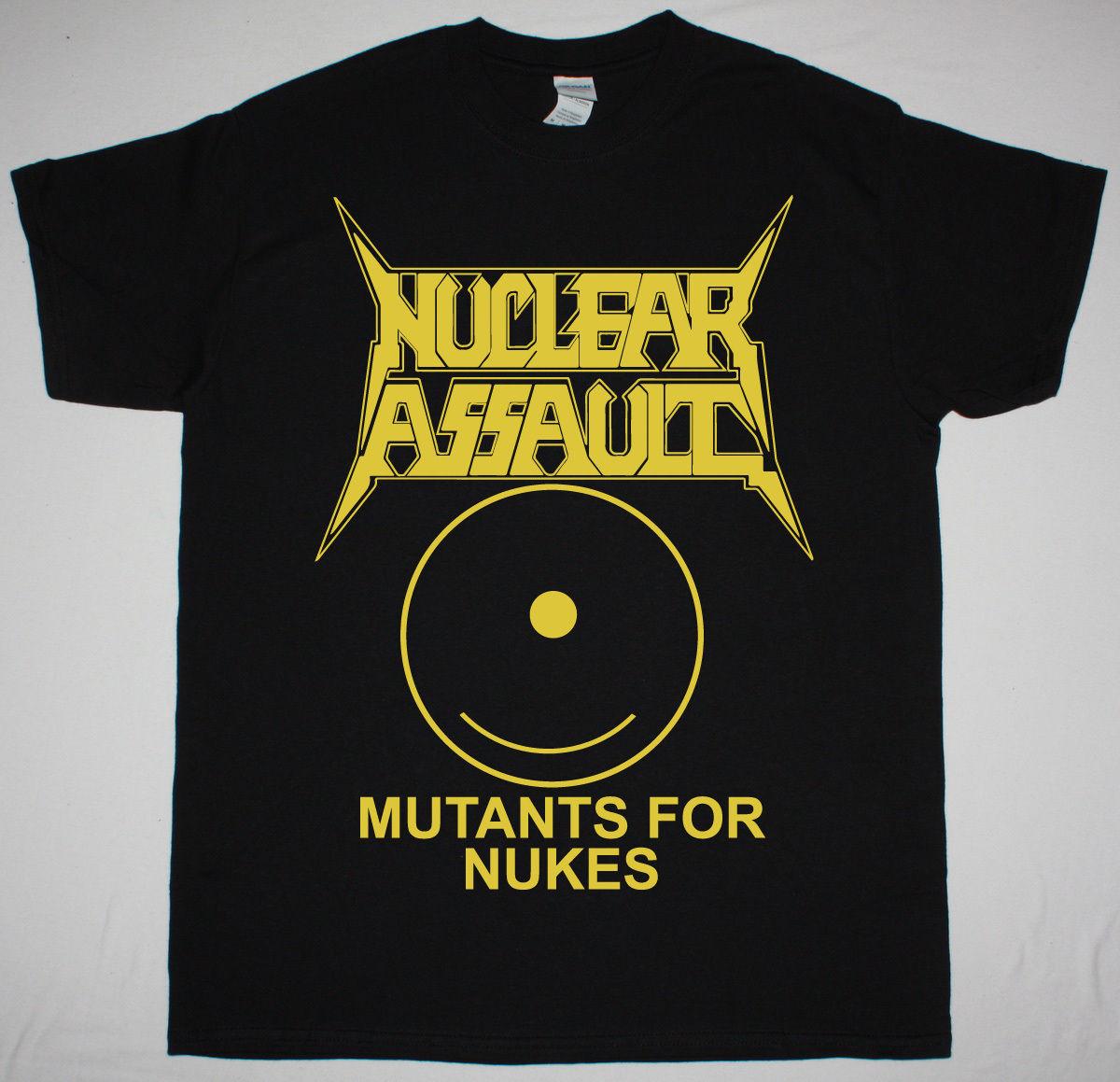 NUCLEAR ASSAULT MUTANTS FOR NUKES BLACK T SHIRT THRASH METAL CROSSOVER S.O.D. ...