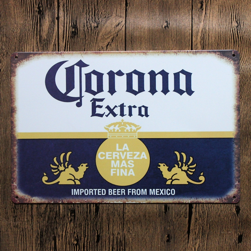 30X20CM Beer From Mexico Retro Vintage Home Decor Tin Sign for Wall Decor Metal Sign Vintage Art Poster Retro PlaquePlate