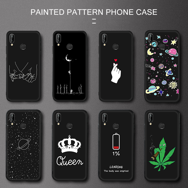 <font><b>TPU</b></font> Printing Phone Case For <font><b>Huawei</b></font> <font><b>Honor</b></font> 8X Max 9X Pro Note 10 <font><b>9</b></font> <font><b>Lite</b></font> 7X V9 Play 6C Pro Magic 2 Space Cartoon Cover Patten Coque image