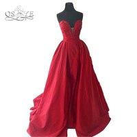Красный Пышное Бальное Платье Выпускные платья Реальное изображение Длинные спинки Милая плюс Размеры Для женщин Формальное вечернее плат