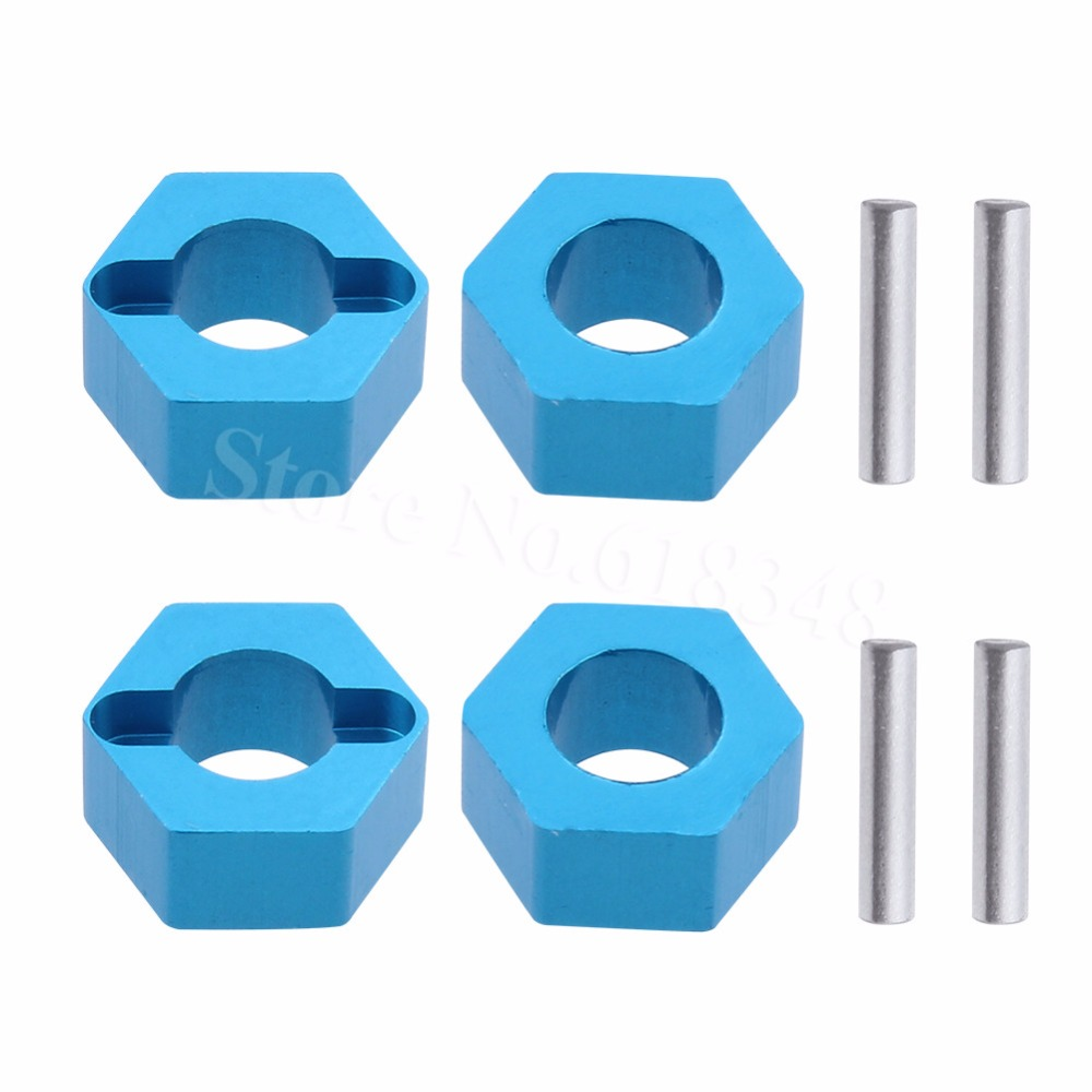 4pcs For WLtoys A959 7mm Aluminum Wheel Hex Mount Hubs Nut With Pins A949-11 Fit 1/18 A949 A969 A979 K929 RC Car Upgrade Parts