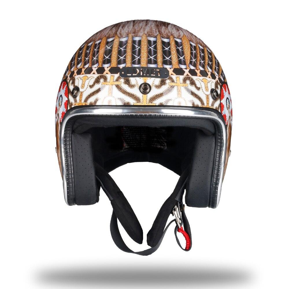 Ldmet Motorcycle Helmet Harley Indian Retro Open Face Vintage Helm