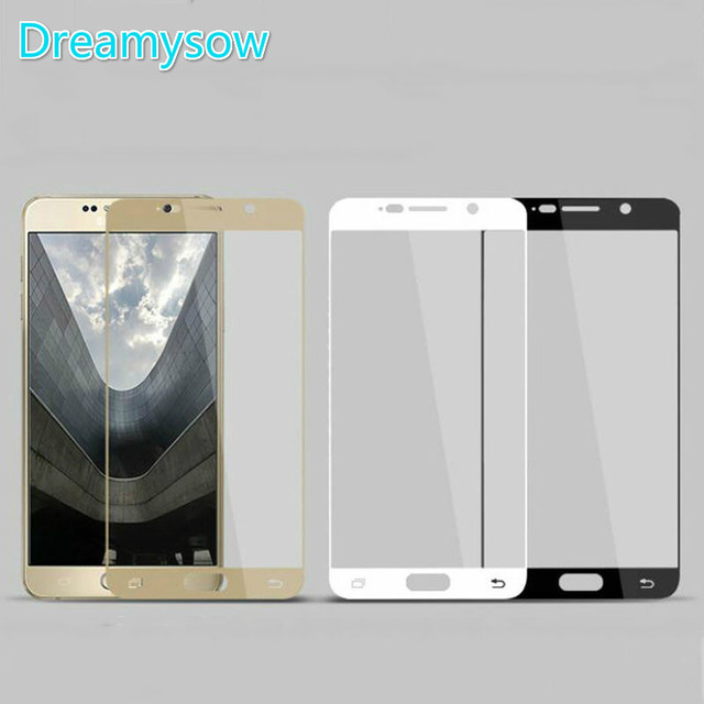 DREAMYSOW Tempered Glass For Samsung Galaxy J3 2017 J5 J7 2016 J5Prime A5 A7 A3 2017 A750 2018 Full Cover film Screen Protector