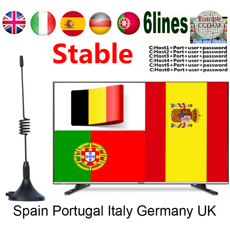 2019 Europe Cccams Satellite TV Receiver Warrant 1.5 Year Support Spain 6lines