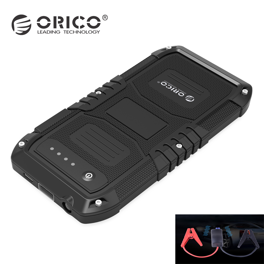 ORICO Multi-Function Car Emergency External Battery Charger Mini Portable Mobile Power Bank 4000mAh Booster Starting Powerbank