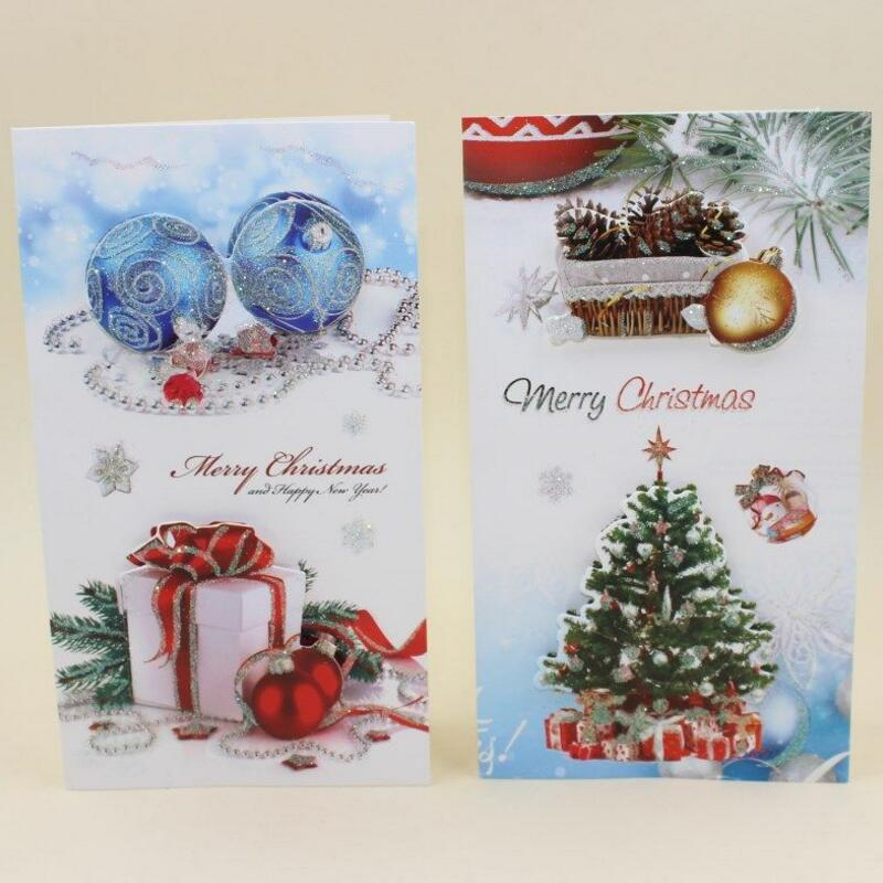 8pcs/lot Creatively Beautifully Patterned Christmas Greeting Card ...