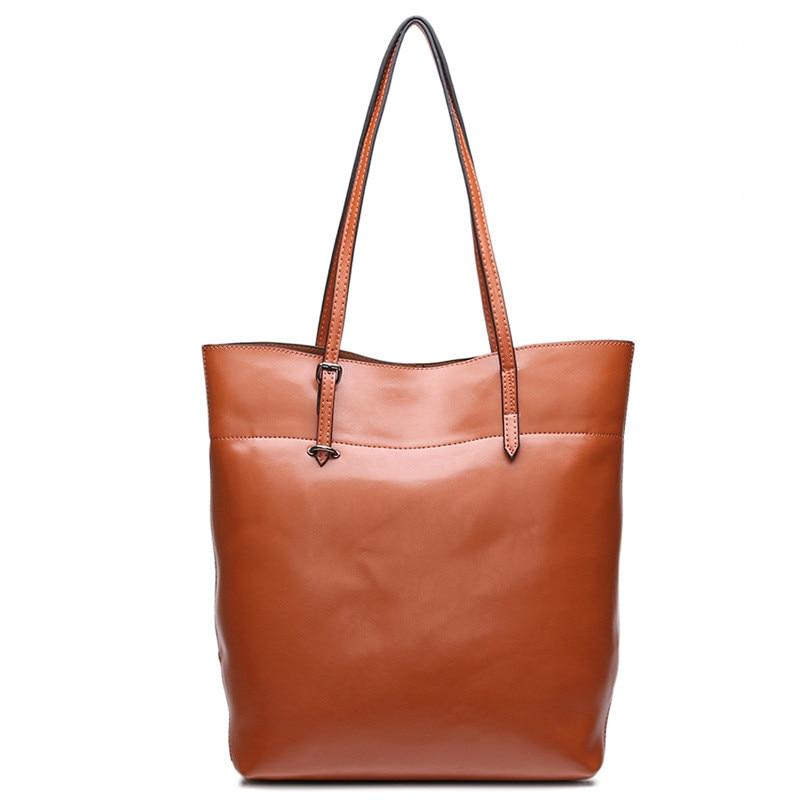 HANSOMFY Genuine leather handbag bag shoulder bag trend