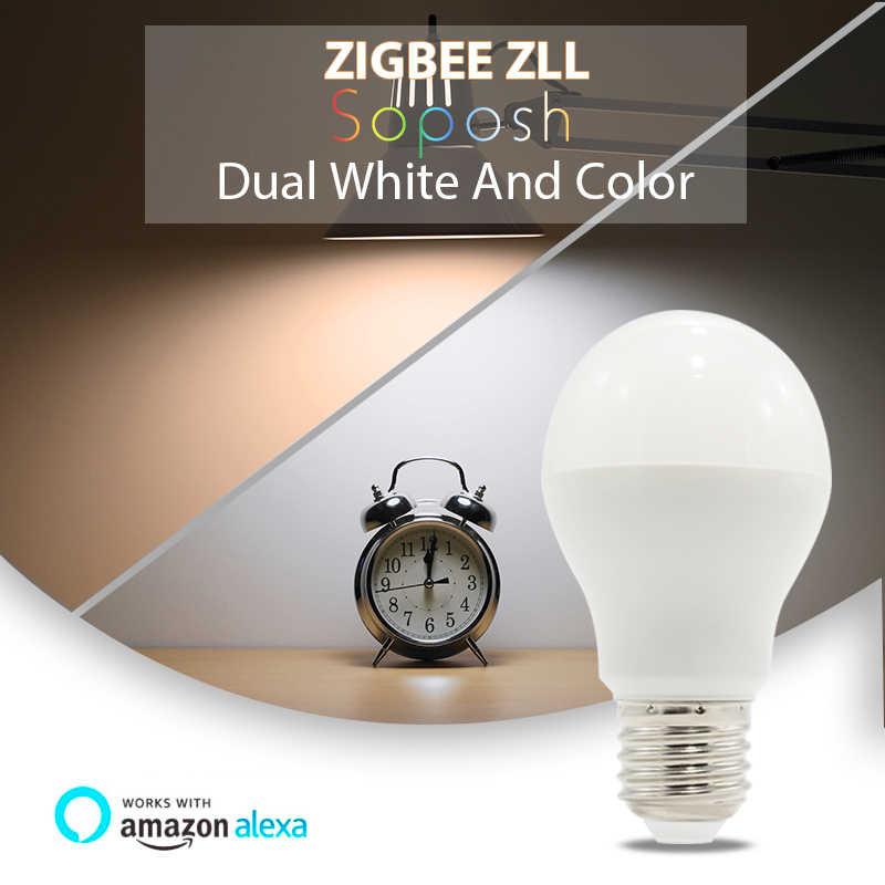 ZIGBEE zll 3,0 светодиодный 6 Вт лампа RGB + CCT ww/cw Светодиодный смартфон приложение управление AC100-240V E27 лампа zigbee zll световая связь Совместимость