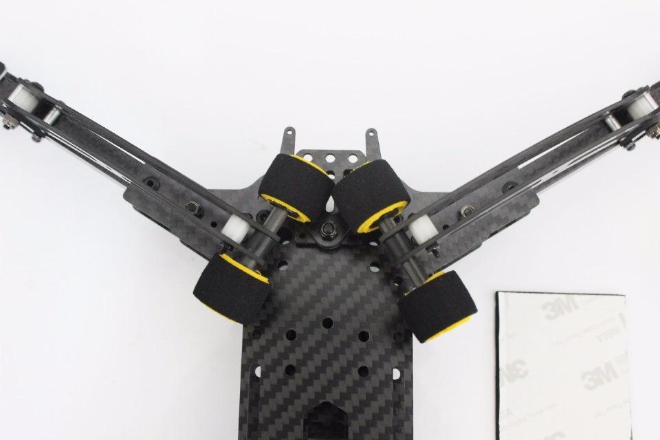 Mini DH410 FPV Klapp Carbon Quadcopter Rahmen FPV mit Retractable ...