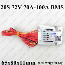 High quality 72v bms 20S 60A smart 20s 70A protection board 3.7v li polymer li-ion cell pack 20s1p 72v 3000w electric bike motor(China)