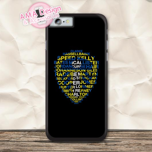 Leeds United Best Players Badge Protective Case For iPhone X 8 7 6 6s Plus 5 5s SE 5c 4 4s For iPod Touch