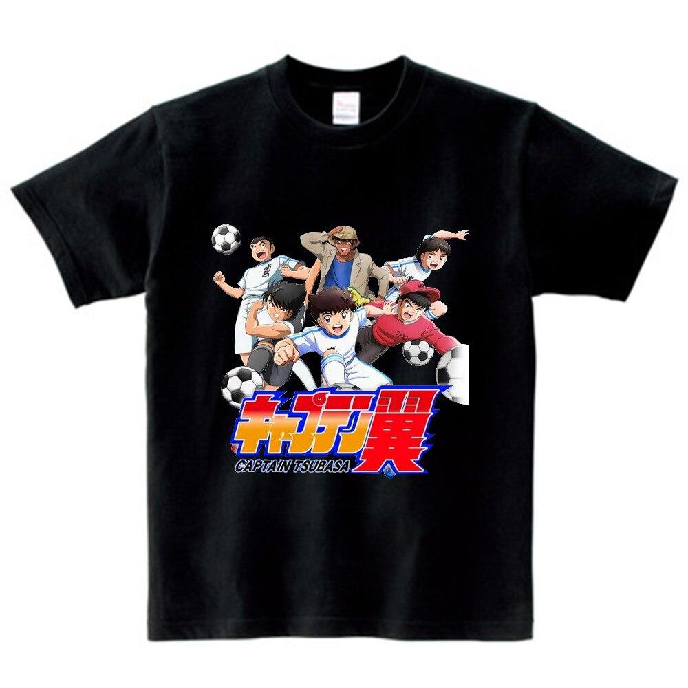 Anime Captain Tsubasa T Shirt Children Leisure Short Sleeve t shirt Boy Football motion T-shirts For Boys Girls 3T-8T NN 4
