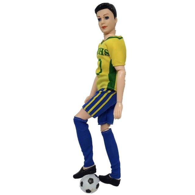 18754436b6fe1 US $1.74 47% OFF|1set Sport Wear For Ken Doll Yellow No.10 T Shirt + Short  + Socks For Barbie's Boyfriend Ken Doll Male Doll Clothes 1/6 Kids Toy-in  ...