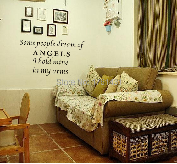 Some People Dream of Angels wall art decals home decoration ...