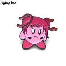 Flyingbee Doki Literature Club minika Enamel Pin Cartoon Brooch Clothes Pins Badges for Denim Blouse Charm Tie X0152