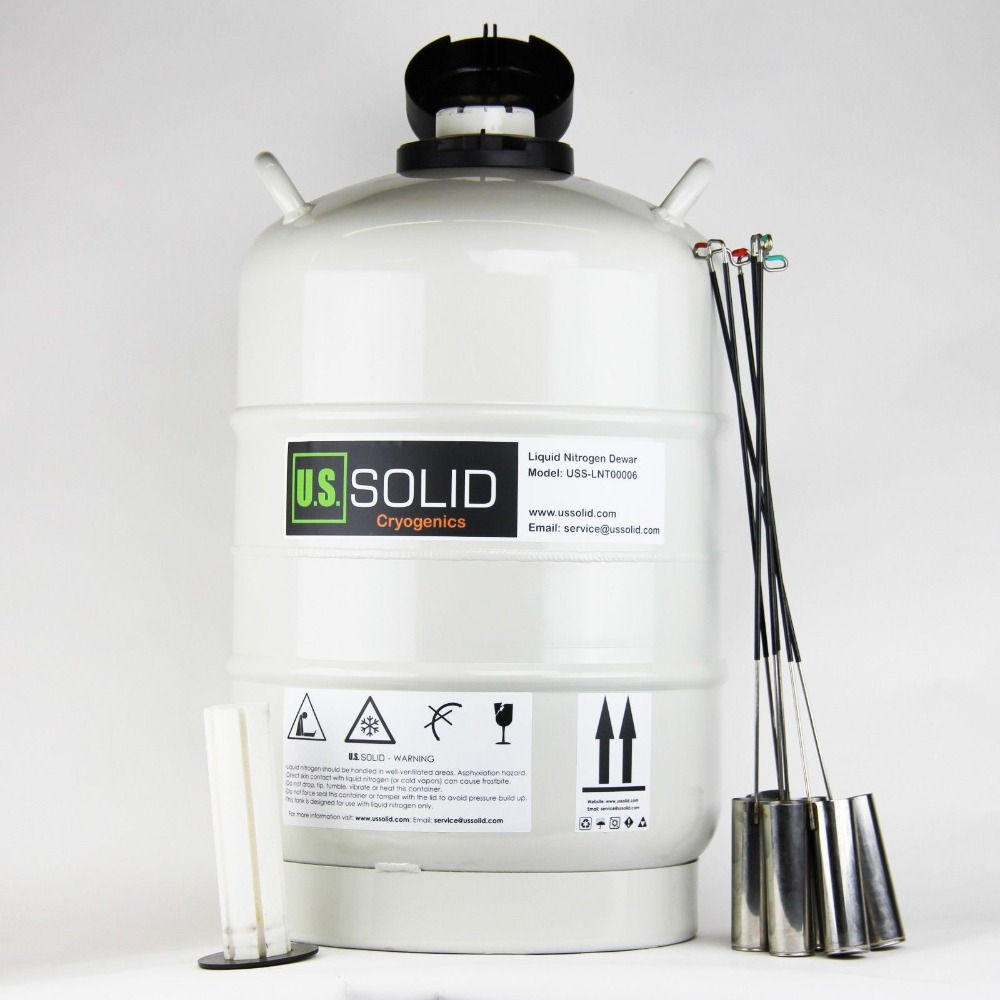 U.S.SOLID 20 L Cryogenic Container Dewar Liquid Nitrogen Container LN2 Tank Liquid Nitrogen Tank 180 days u s solid 3 l liquid nitrogen container cryogenic ln2 tank dewar with straps 6 canisters 25 days