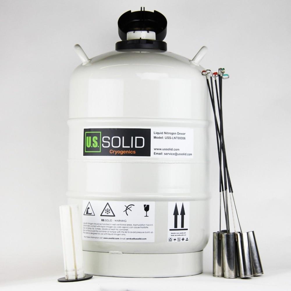 U.S.SOLID 20 L Cryogenic Container Dewar Liquid Nitrogen Container LN2 Tank Liquid Nitrogen Tank 180 days alcohol and liquid container bottle white 180ml