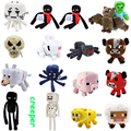 15 Styles Big Size Minecraft Plush Stuffed Toys 14-60cm Minecraft Steve Enderman Wolf Enderdragon Spider Plush Toy Gift for Kids