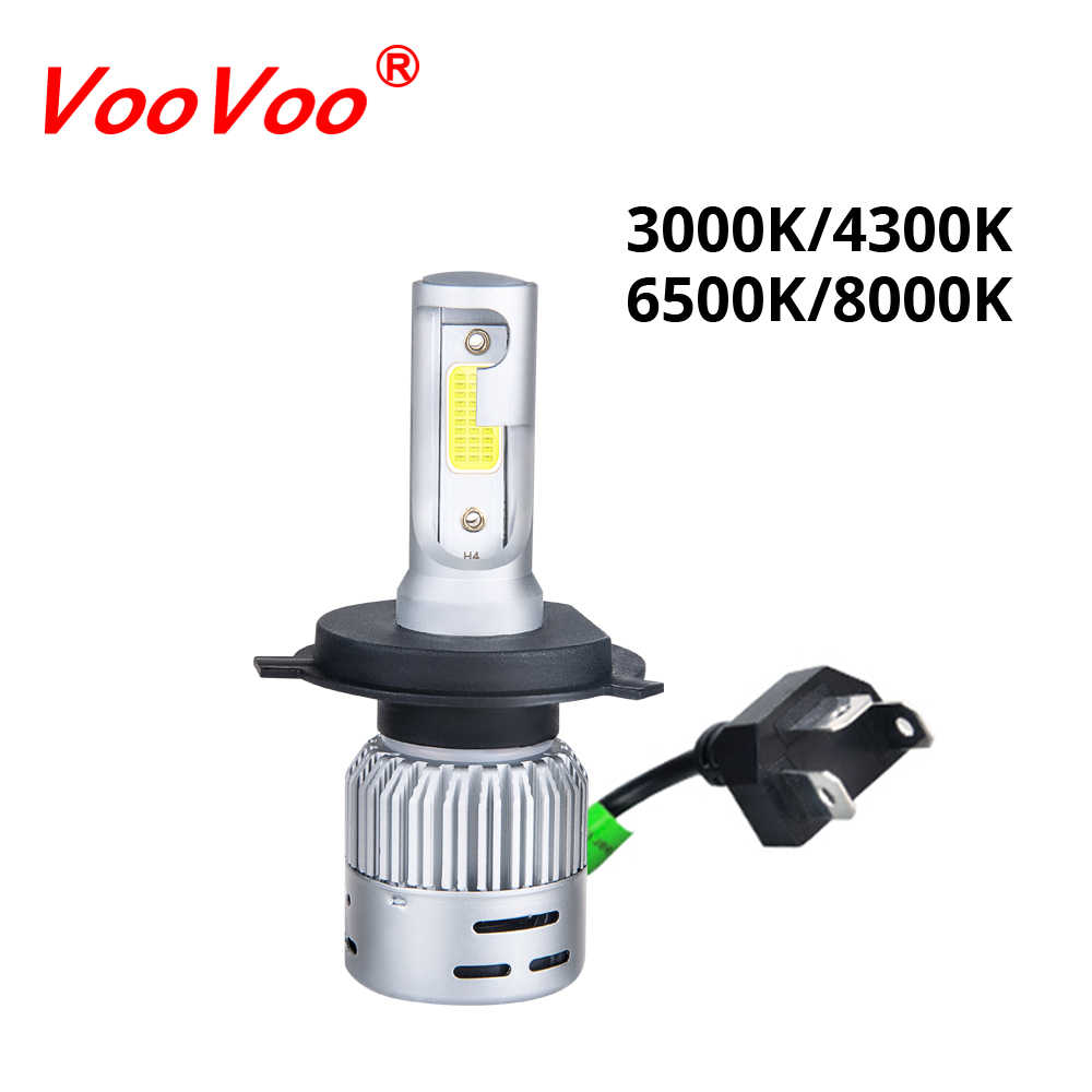 VooVoo H4 LED Motorcycle Headlight Bulb HS1 LED Moto Scooter Light Hi/Lo 4300K 6500K Motor Bike Headlamp 3000K 8000K DC 12V