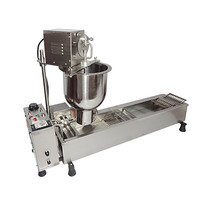 Electric Donut Fry machine Ball Shape MINI Donut Machine Cake Donut Fryer Full Automatic Counting system 3 set Moulds