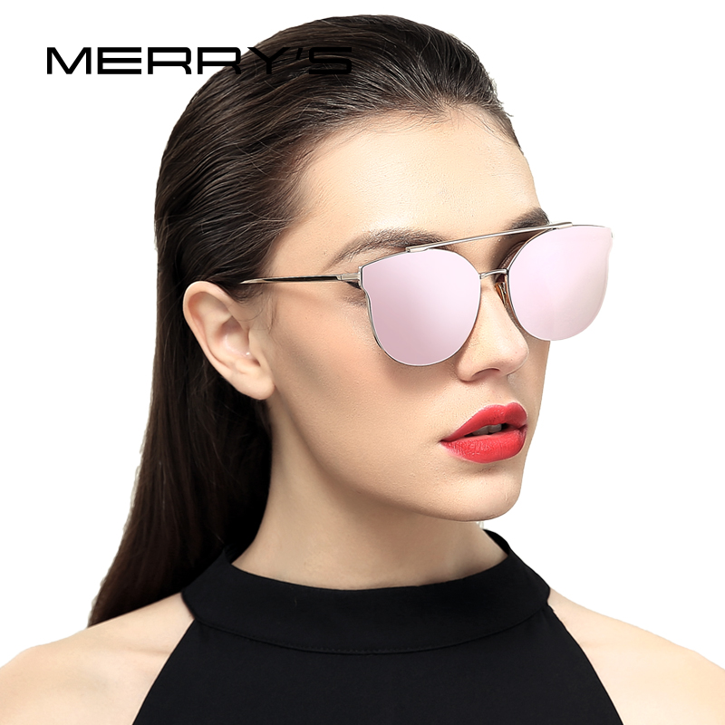 MERRYS Women Cat Eye Sunglasses Classic Brand Designer Sunglasses S8089