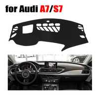 RKAC Car dashboard cover for Audi A7 S7 high configuration all the years Left hand drive dashmat pad dash covers auto stickers