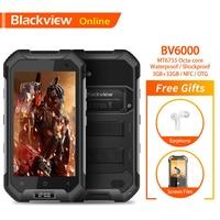 Blackview BV6000 Rugged IP68 Waterproof 4.7 Smartphone 3GB+32GB Octa Core 13.0MP Camera 4500mAh Battery 4G NFC Mobile Phone