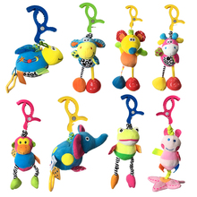 Hot sales Baby Toys Rattles Toy Kids Soft Mouse Donkey Deer Plush Toy Animal Clip Baby Crib Bed Hanging Bells Toys for Stroller