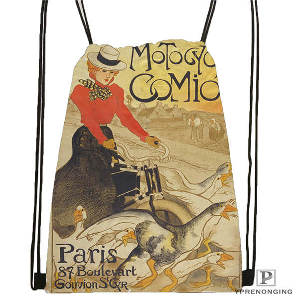 Custom Henri_de_Toulouse- Drawstring Backpack Bag Cute Daypack Kids Satchel (Black Back) 31x40cm#2018611-1(11)