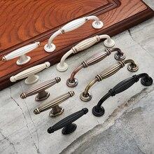Tiradores de armario de aleación de zinc estilo europeo, tiradores de cajón Vintage modernos, puerta de armario manillas muebles