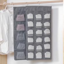 15/30 Pockets Double Side Underwear Sorting Hanging Storage Multifunction Socks Bra Hanger Organizer Bag D35