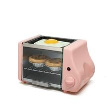 Многофункциональная Мини электрическая выпечка, жаркая духовка-гриль, жареные яйца, омлет, сковорода, машина для завтрака, хлебопечка тостер