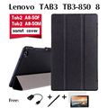Для Lenovo TAB3 TB3-850F кобура случае 8 дюйм(ов) tablet TB3-850M поддержка оболочки пакет PU кожаный чехол стенд Магнитный Планшет случае