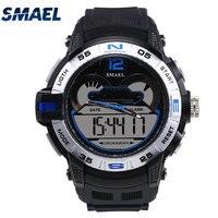 Błękitny Fajne Mody Mężczyzna Zegarki SMAEL Fashional S-shock Wody Oprzeć Nowoczesne Armbanduhren Zegar Relogio Masculino 1511