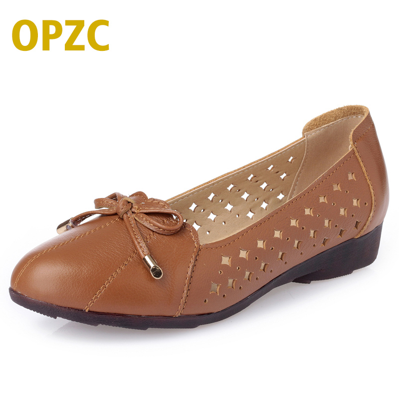 OPZC Fashion womens pumps square Heels genuine spring/summer leather shoes classic women ladies black Sexy chaussure femme shoes 2016 red womens pumps chaussure femme cheap shoes for women real image fashion custom made ladies party evening shoes hot