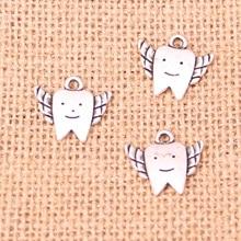 6d9db985b872 16 piezas plata tibetana plateado dientes de hadas encanta los colgantes  para la joyería haciendo DIY