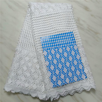 African guipure lace fabric 2019 high quality african cord lace fabrics white nigerian wedding lace 5 yards for wedding pl14-77