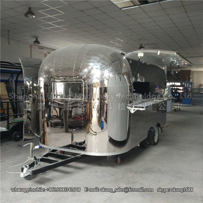 UKUNG, AST-210, 480cm, with range hoods, stailess steel inside, airstream food trailer