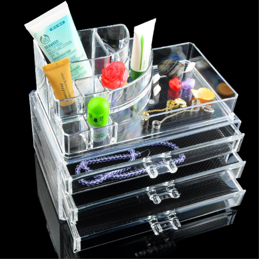 Cheap 11 Grids 4 Layer Drawers Make up Organizer Storage Holder jewelry Box Skin Care Ra ...