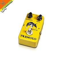 Joyo efectos de guitarra pedal de efectos analog tremolo tremolo pedal de tasa de intensidad ajustable puente verdadero del envío libre