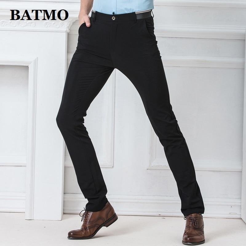 BATMO 2019 New Arrival High Quality Casual Pants Men,men's Smart Casual Pants,black Trousers,plus-size 1555
