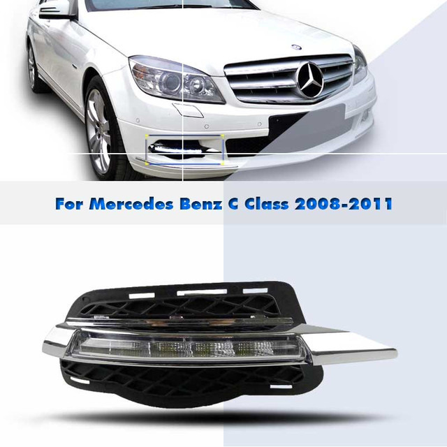 DRL LED Daytime Running Lights Aftermarket Car Styling Parts For Mercedes  Benz C Class W204