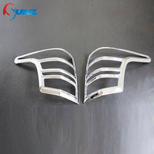 chrome tail lights cover for Mitsubishi L200 triton 2016 rear lamp cover for mitsubishi l200 2016 accessories car styling SUNZ