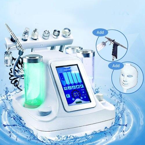 7 em 1 Vácuo Rosto Limpeza Hidro Água Oxigênio Jet Peel Máquina Pore Cleaner Massagem Facial Cuidados Com A Pele BIO luz RF do Dispositivo Da Beleza