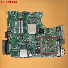 Palubeira frete grátis a000076380 placa-mãe do portátil para toshiba satellite l655d l650d soquete s1 ddr3 da0bl7mb6d0