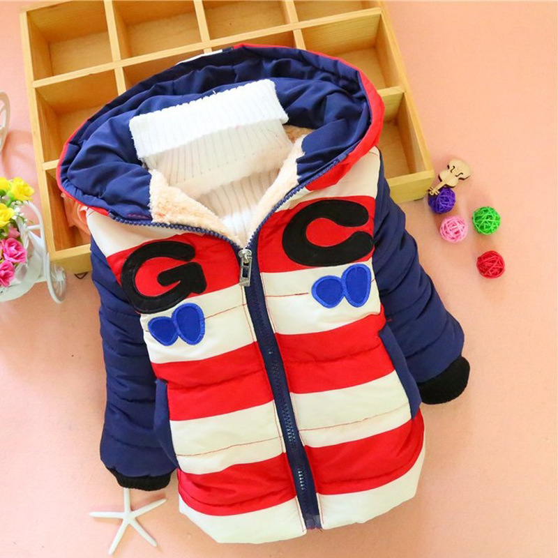 2016 Children Han Edition New Boy Child Cotton-padded Jacket Winter Coat GC Spell Color Cotton Baby Clothes цена 2016